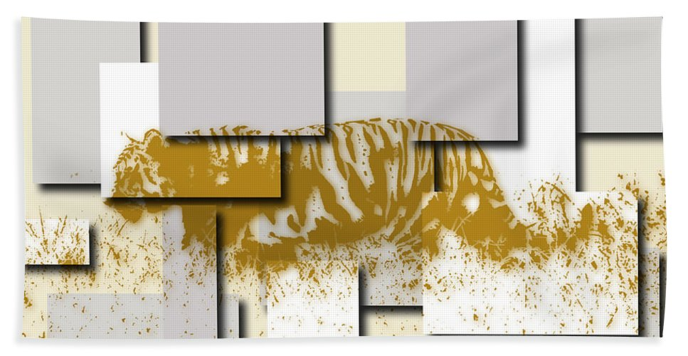 Tiger Hand Towel featuring the photograph Tiger 6 by Joe Hamilton
