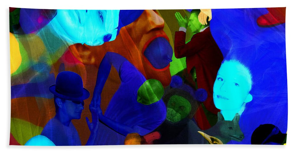 Color Hand Towel featuring the digital art Time Does Not Stop. by Andrzej Pietal