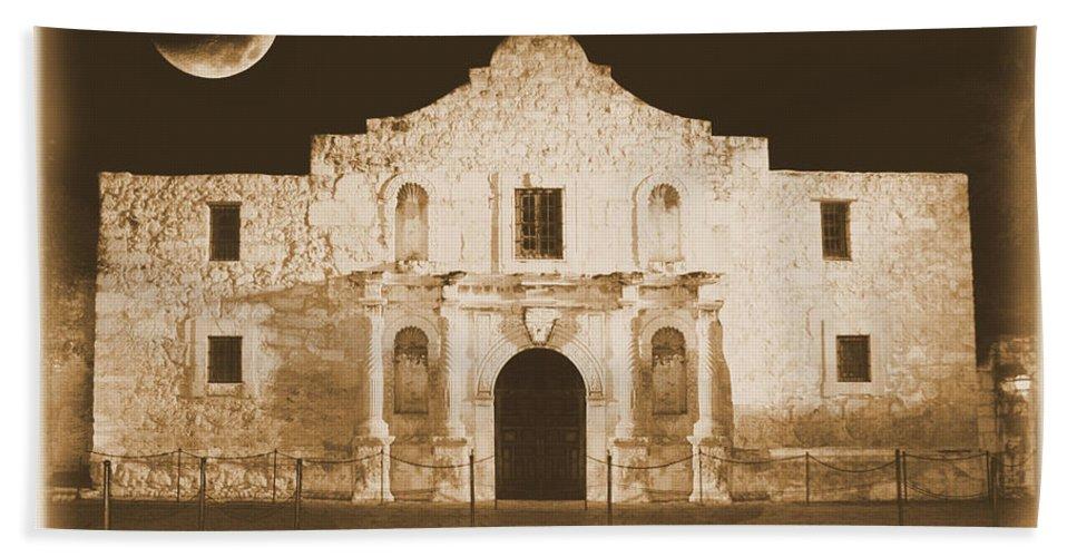 The Alamo Bath Sheet featuring the photograph Timeless Alamo by Carol Groenen