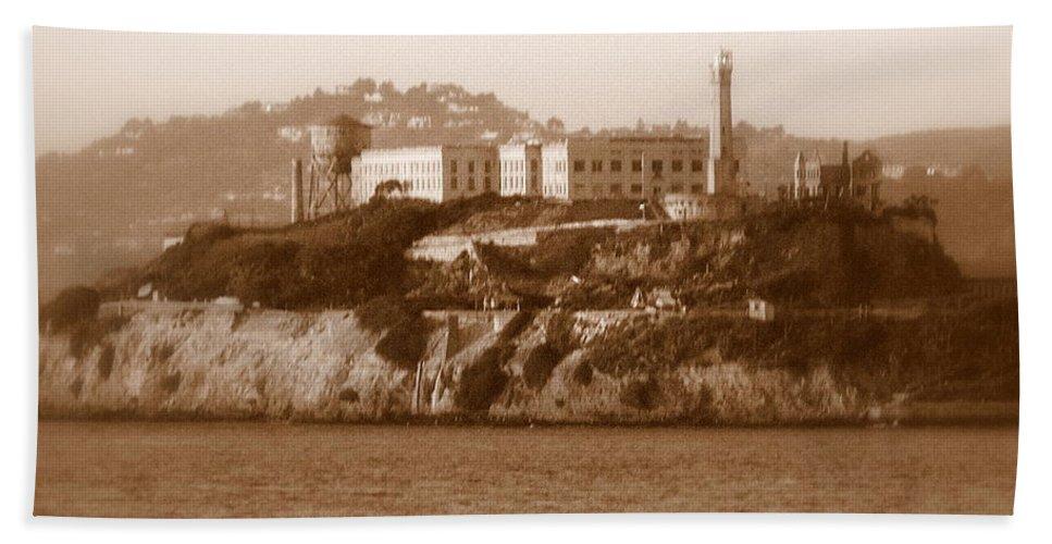 San Francisco Hand Towel featuring the photograph Timeless Alcatraz by Carol Groenen