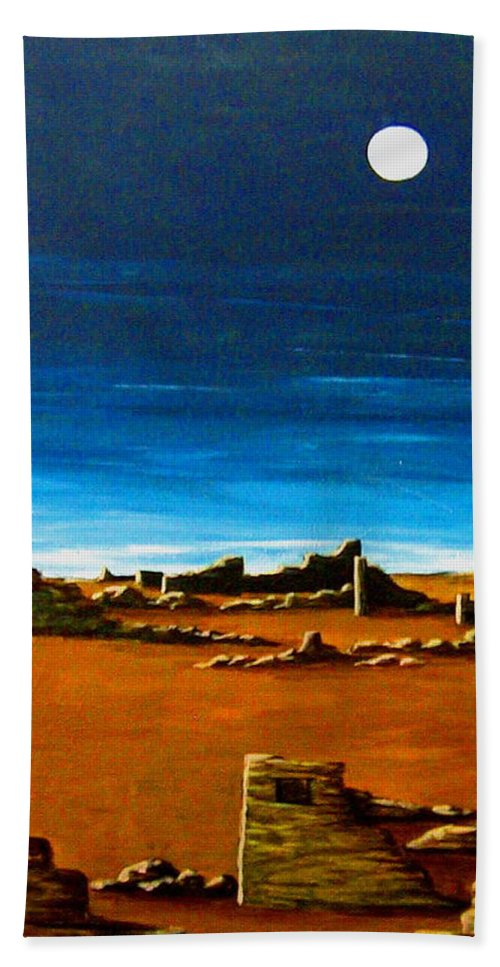 Anasazi Bath Towel featuring the painting Timeless by Diana Dearen
