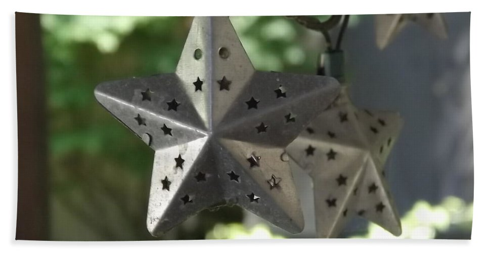 Tin Hand Towel featuring the photograph Tin Star by Diane Ross
