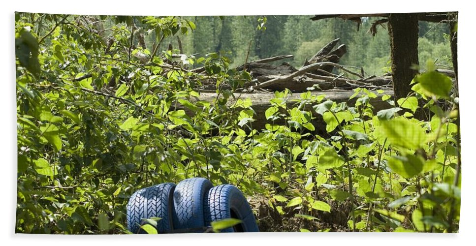 Tire Hand Towel featuring the photograph Tires Blue by Sara Stevenson