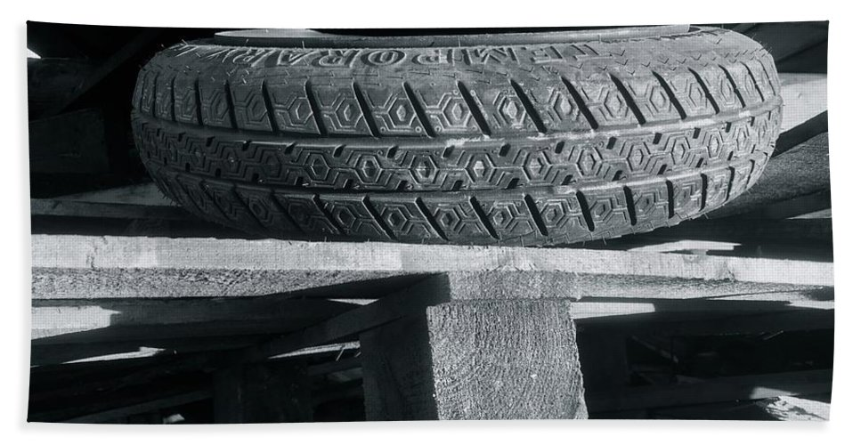 Tires Hand Towel featuring the photograph Tires by Julian Grant