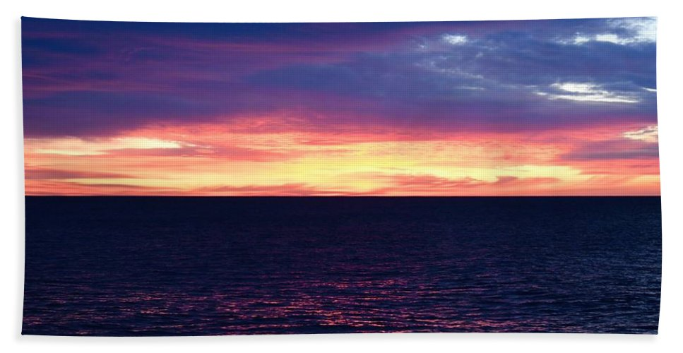 Lake Superior Hand Towel featuring the photograph Todays Sunrise by Hella Buchheim