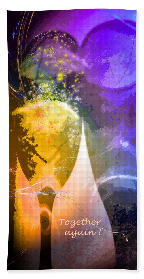 Fantasy Hand Towel featuring the photograph Together Again by Miki De Goodaboom