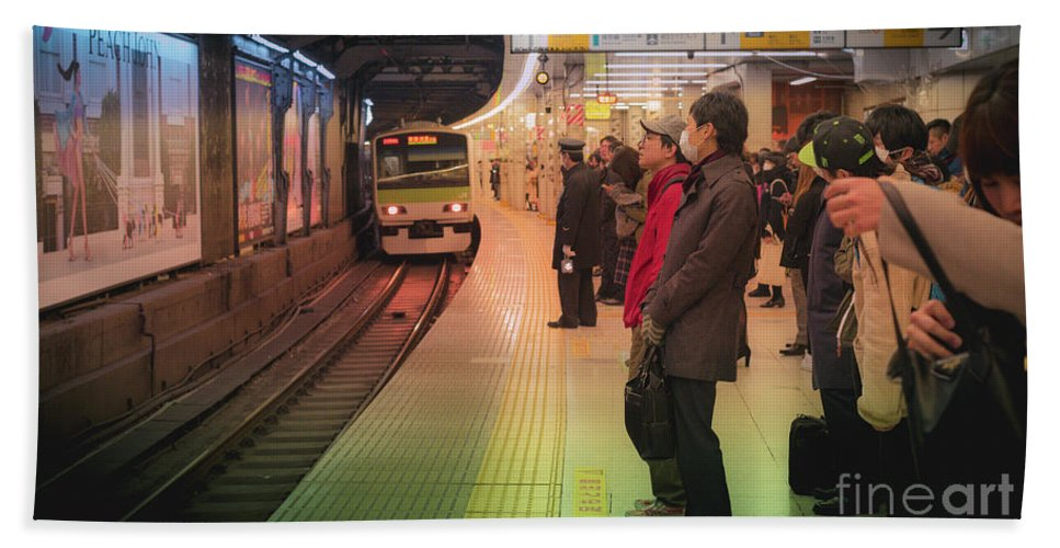 Pedestrians Hand Towel featuring the photograph Tokyo Metro, Japan by Perry Rodriguez