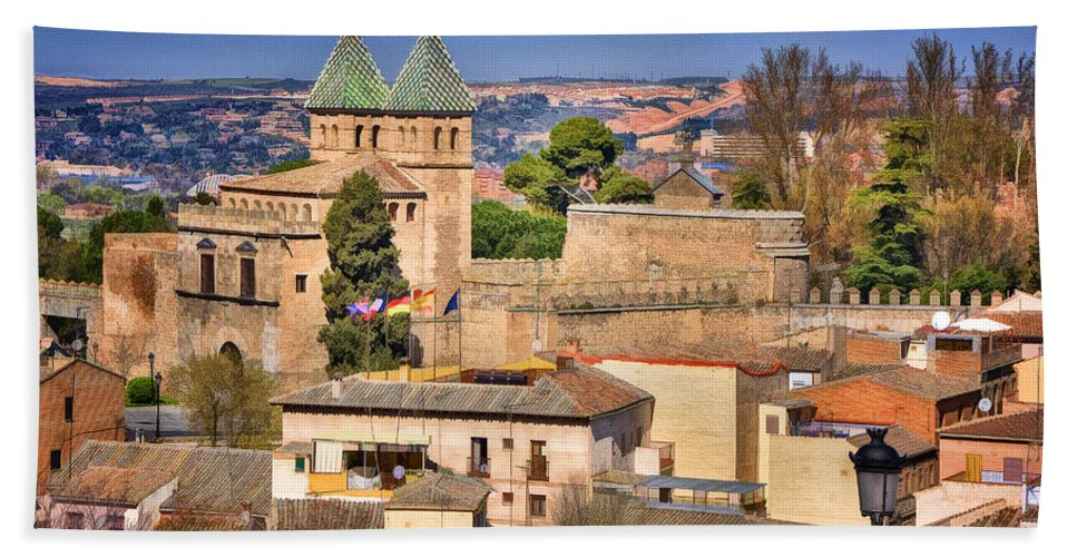 Ancient Hand Towel featuring the photograph Toledo Town View by Joan Carroll