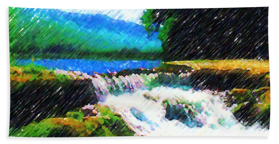 Landscape Bath Sheet featuring the photograph Tolhuaca by Madalena Lobao-Tello