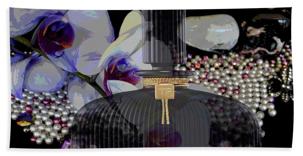 Tom Ford Black Orchid Hand Towel featuring the digital art Tom Ford Black Orchid by To-Tam Gerwe