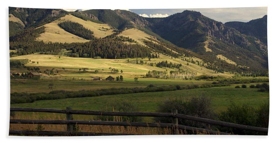 Landscapes Bath Towel featuring the photograph Tom Miner Vista by Marty Koch