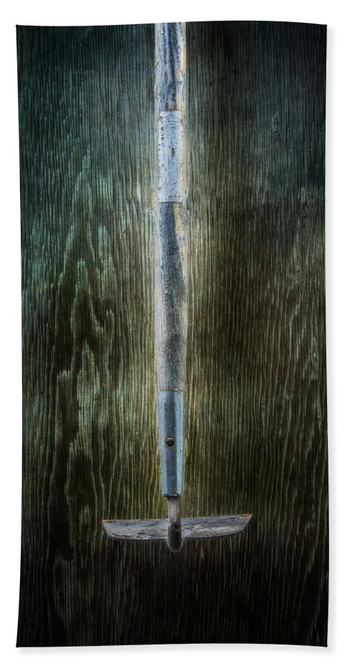Industrial Hand Towel featuring the photograph Tools On Wood 22 by Yo Pedro