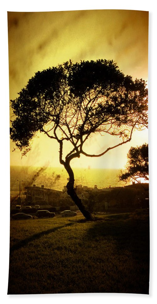Tree Hand Towel featuring the photograph Top Of The Hill by Scott Pellegrin