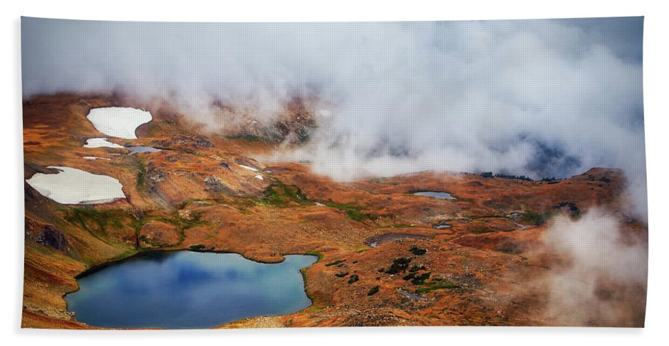 Adventure Bath Sheet featuring the photograph Top Of The World by Rick Furmanek