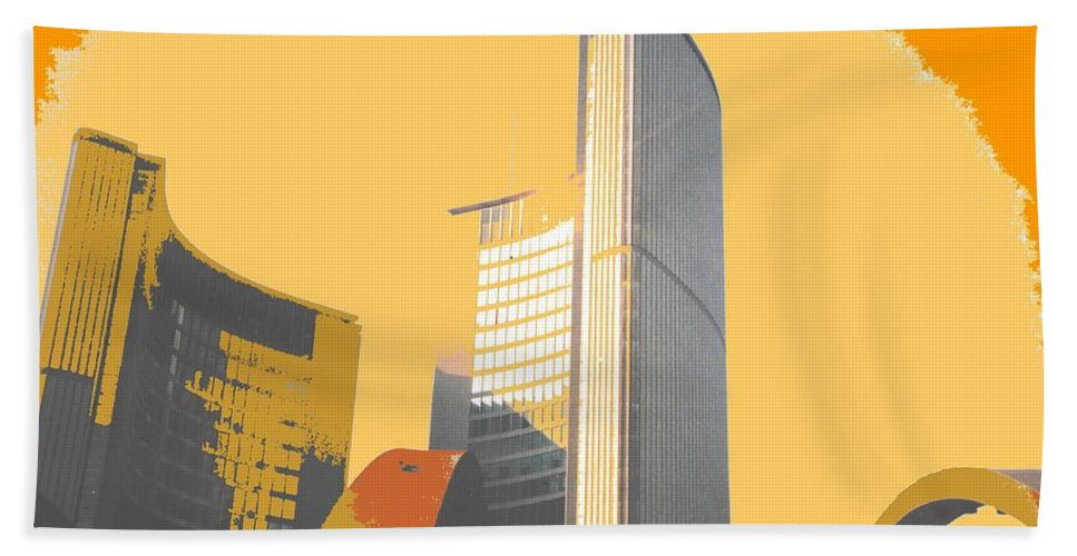 Toronto Bath Sheet featuring the photograph Toronto City Hall Arches by Ian MacDonald