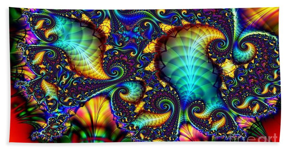 Shell Hand Towel featuring the digital art Tortise Shell by Ron Bissett