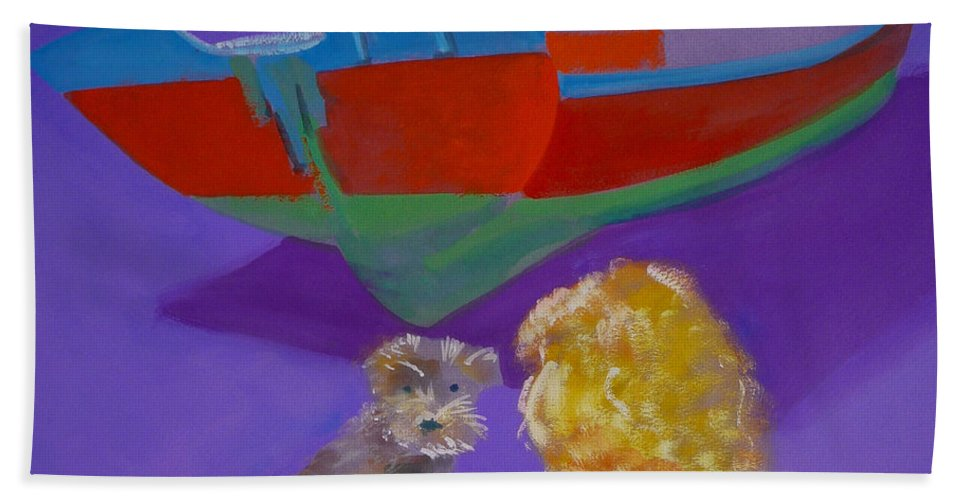 Blonde Bath Towel featuring the painting Toto by Charles Stuart