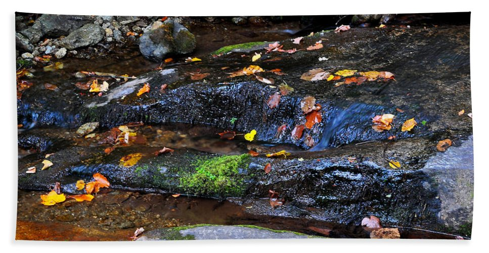 Water Hand Towel featuring the photograph Touch Of Fall by Todd Hostetter