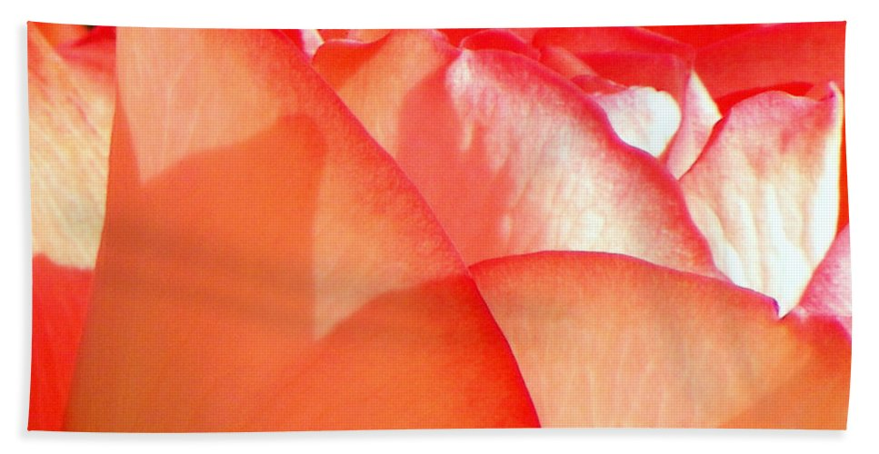 Flowers Hand Towel featuring the photograph Touch Of Rose by Karen Wiles