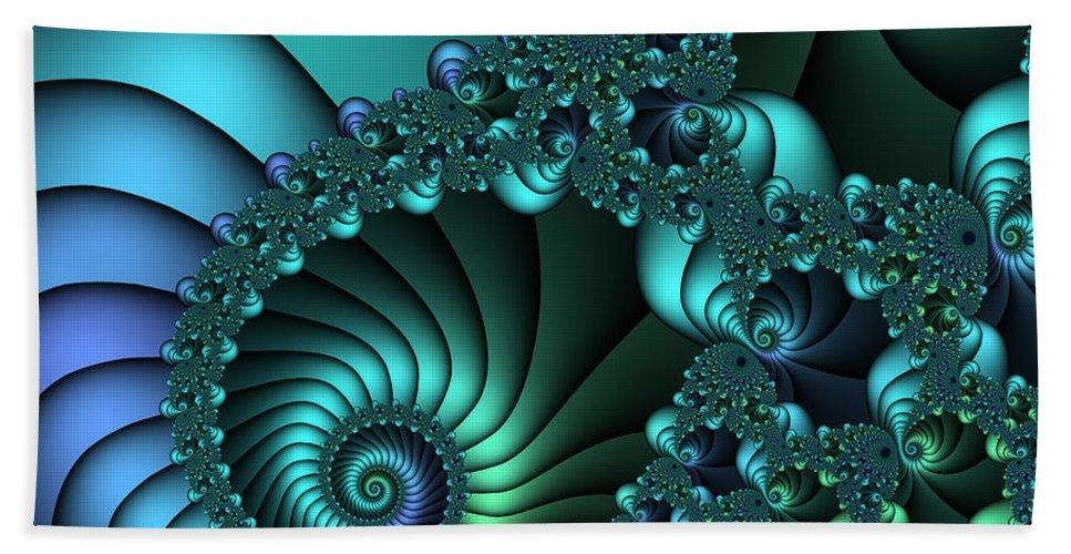 Fractal Bath Sheet featuring the digital art Touch The Sky by Jutta Maria Pusl