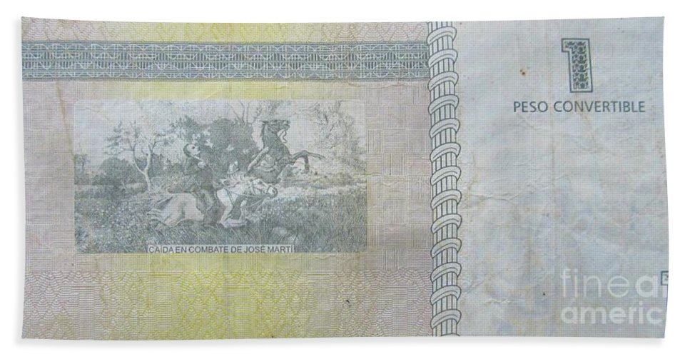 Tourist Dollars In Cuba Hand Towel featuring the photograph Tourist Dollars In Cuba by John Malone