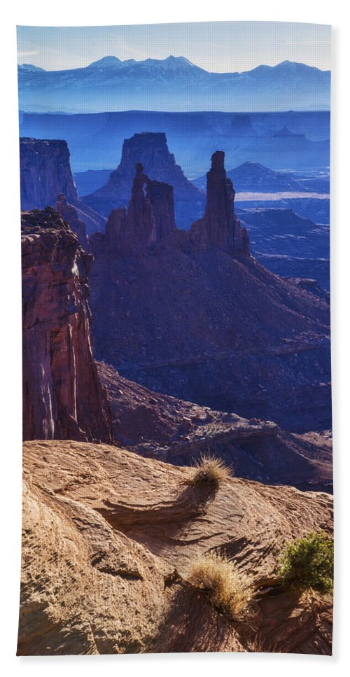 Tower Sunrise Hand Towel featuring the photograph Tower Sunrise by Chad Dutson