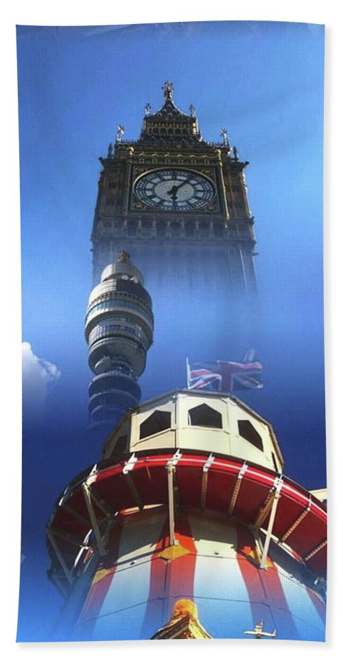 Towers Bath Sheet featuring the digital art Towers Of London by Steve Swindells