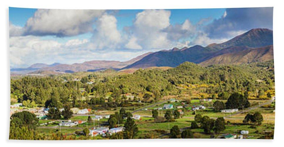 Tasmania Hand Towel featuring the photograph Town Of Zeehan Australia by Jorgo Photography - Wall Art Gallery