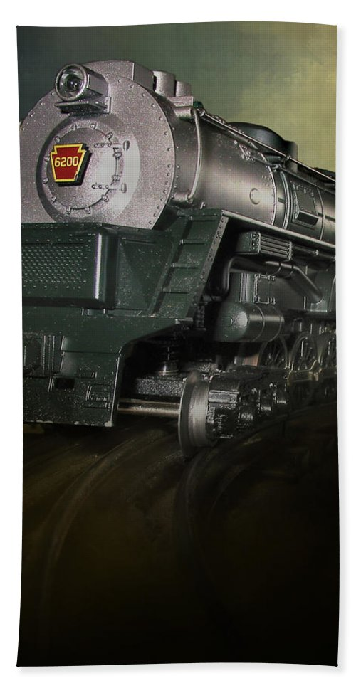 Close Up Hand Towel featuring the photograph Toy Train by David and Carol Kelly