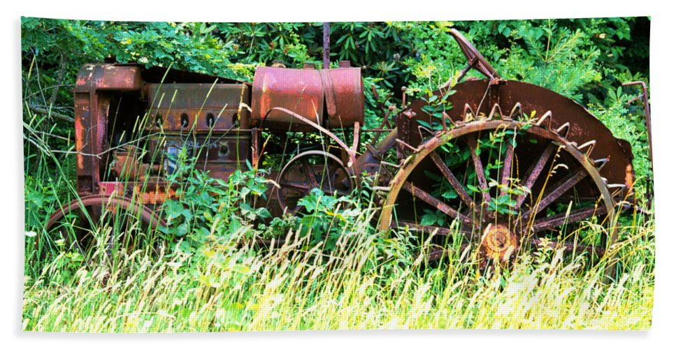 Tractor Bath Sheet featuring the photograph Tractor by Robert Ponzoni