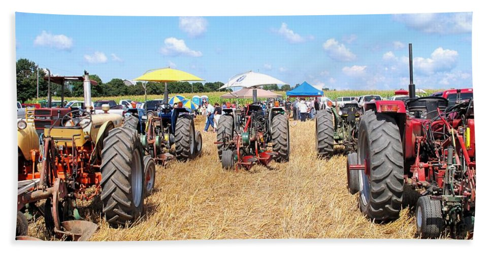 Tractors Hand Towel featuring the photograph Tractor City by Ian MacDonald