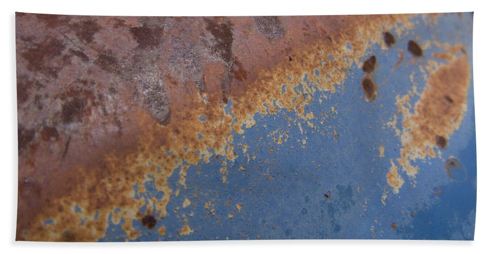 Rust Hand Towel featuring the photograph Tractor Decomposition by Jeffery Ball