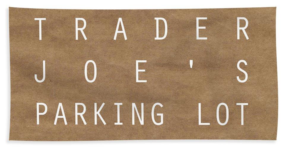 Shopping Bath Towel featuring the digital art Trader Joe's Parking Lot by Linda Woods