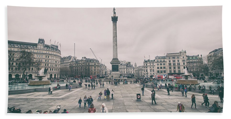 Europe Hand Towel featuring the photograph Trafalgar Square by Martin Newman