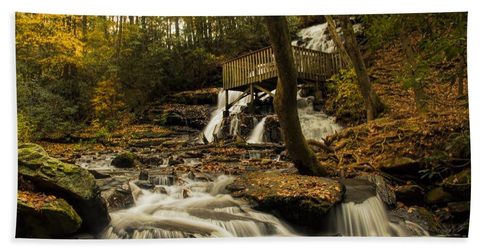 Trahlyta Falls Bath Sheet featuring the photograph Trahlyta Falls by Barbara Bowen
