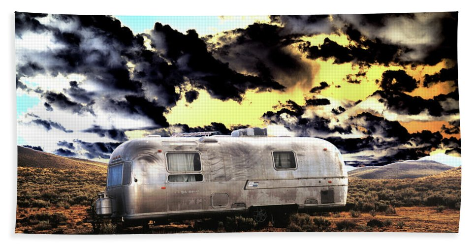 Trailer Bath Sheet featuring the photograph Trailer by Jim And Emily Bush