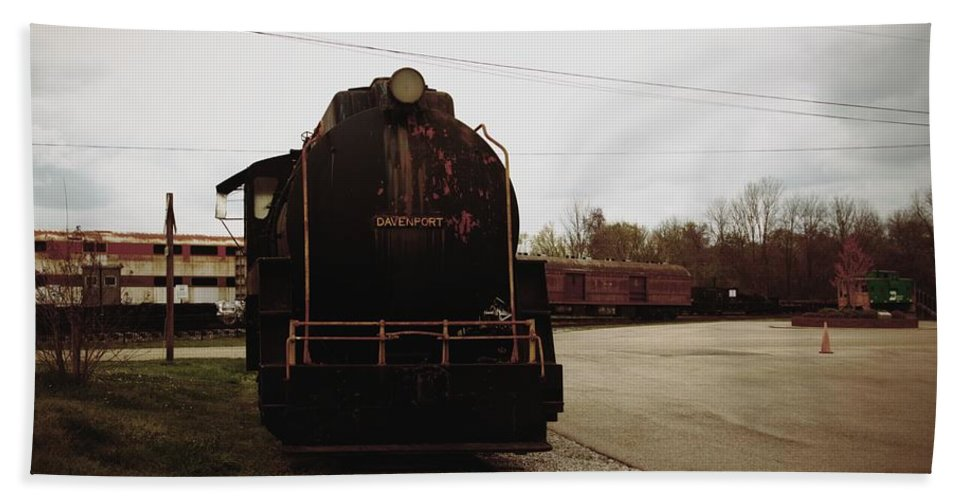 Train Hand Towel featuring the photograph Trains 3 Retro by Jay Mann