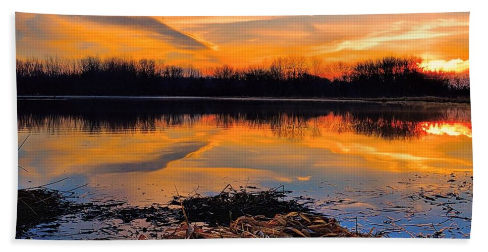 Sunrise Bath Sheet featuring the photograph Tranquil by Bonfire Photography