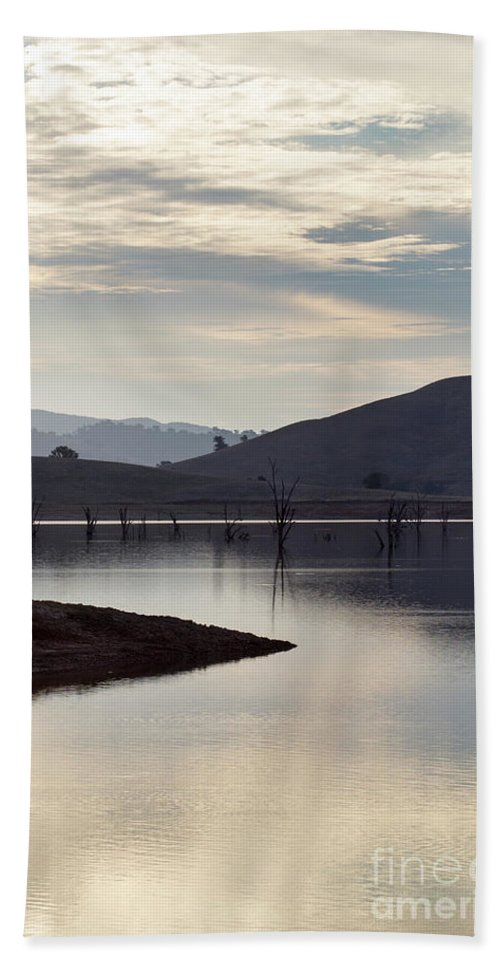 Lake Hand Towel featuring the photograph Tranquil by Linda Lees