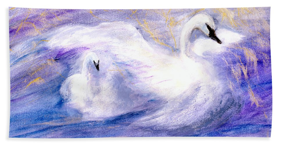 Birds Bath Towel featuring the painting Transformation by Gail Kirtz