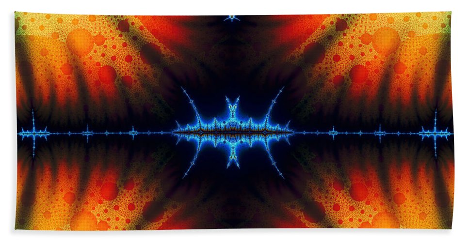 Clay Hand Towel featuring the digital art Transient Propagation by Clayton Bruster