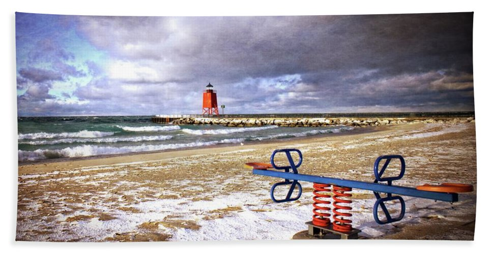 Michigan Bath Sheet featuring the photograph Transition Of Seasons by LuAnn Griffin