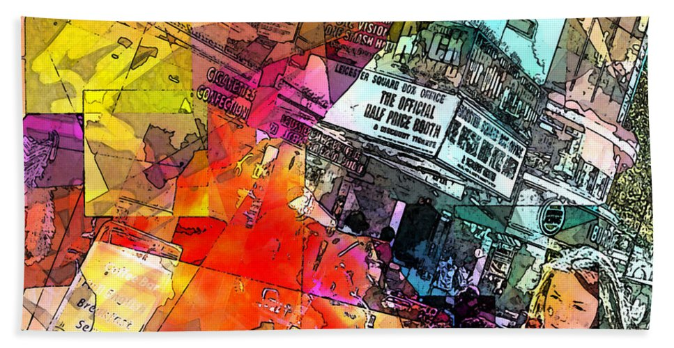 City. Colors Bath Sheet featuring the digital art Translate by Agnes V