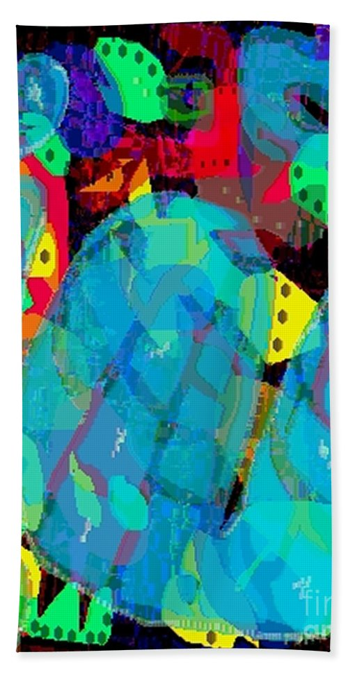 Digital Hand Towel featuring the digital art Transparencies by Ron Bissett