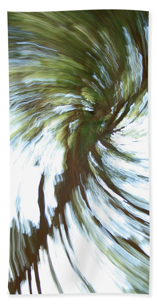 Abstract Hand Towel featuring the photograph Tree Diptych 1 by Ric Bascobert