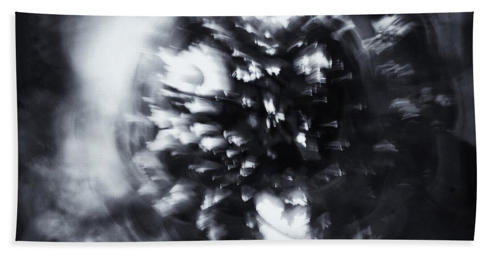 Abstract Bath Towel featuring the photograph Tree Implosion by Scott Wyatt