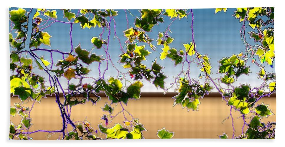 Tree Bath Towel featuring the photograph Tree Leaves by Tim Allen