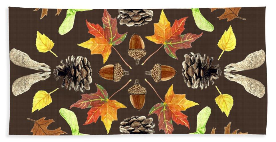 Tree Bath Sheet featuring the painting Tree Mandala 1 - Watercolor by Cindy Skidgel