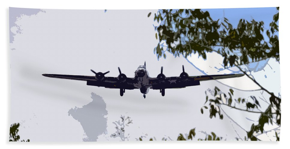 B 17 Bath Sheet featuring the photograph Tree Top Fly Er by David Lee Thompson