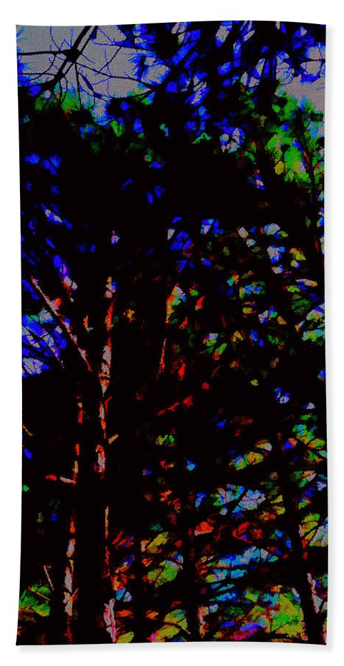Trees Hand Towel featuring the photograph Trees In Abstract 3 by Kristalin Davis
